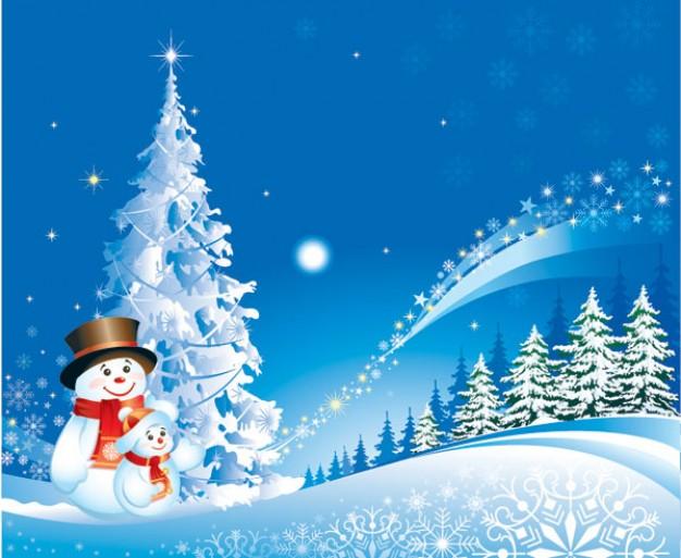 Kerstmis sneeuwpop sneeuw vector materiaal 15 6842 - Deseos para la navidad ...